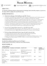 Digital Marketing Sample Resume by Sagar Mandal Digital Marketing Digital Technology Updated Resume