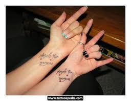 best tates friendship tattoos small