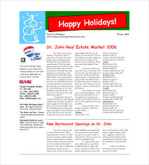 9 christmas newsletter templates u2013 free sample example format