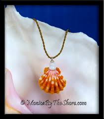 bright orange hawaiian sunrise shell u0026 puka shells