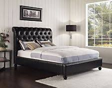 Tufted Sleigh Bed Leather Sleigh Bed Ebay