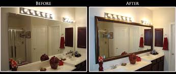 Bathroom Mirror Frame Kits Excellent Refresh A Tired Bathroom Simply And Inexpensively With