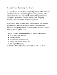 Soapstone Analysis Example Beowulf U0027s Boasts Quotes Doc Betterlesson