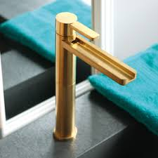 brushed gold luxury bathroom faucet