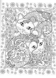 advanced cat coloring pages coloring