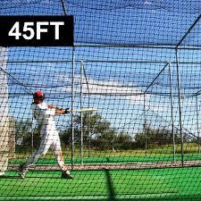 fortress 45ft batting cage net nets net world baseball
