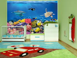 undersea coral reef photo wall paper will turn your wall into an kids room aquarium wall