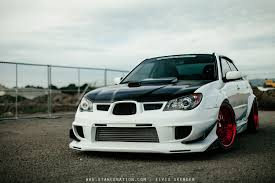 subaru wrx hatchback modified wide load patrick daguio u0027s aggressive subaru sti