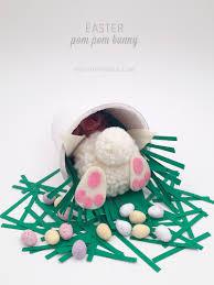 easter bunny craft pom pom bunny tail