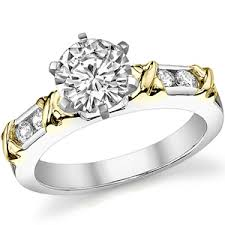 2 engagement rings moissanite channel 2 tone engagement ring 0 24ct