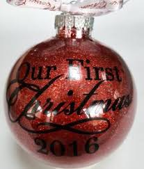 our first christmas ornament our first christmas our first