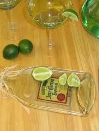 flattened wine bottle platter how to flatten wine bottles reuse meat and trays