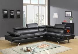global furniture bonded leather sofa u9782 sectional sofa in black bonded leather by global