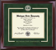 michigan state diploma frame michigan state showcase edition diploma frame in encore