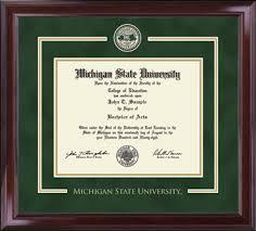 of michigan diploma frame michigan state showcase edition diploma frame in encore