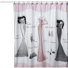 home dressed to thrill shower curtain dressed to thrill bathroom