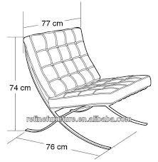 modern white leather barcelona chair replica lounge rf s200a buy