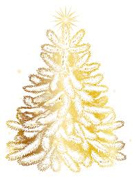 christmas gold tree transparent png clip art image gallery