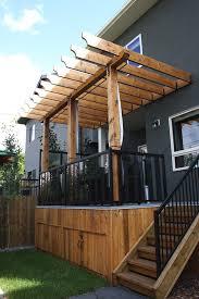pergola and privacy lattice calgary landscaping company