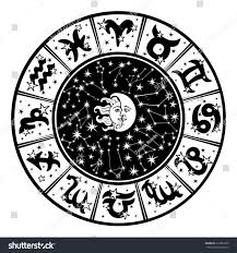Colors Of The Zodiac by Horoscope Circle Zodiac Signs Constellations Zodiacinside Stock