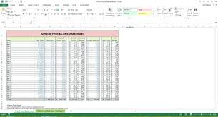 Profit And Loss Spreadsheet Template by Profit Loss Statement Excel Template Ereads Club