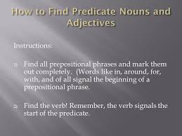 predicate nouns and predicate adjectives ppt download