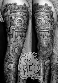thigh sleeve tattoo designs tlaloc leg web jpg tattoo com art u0026 tattoos pinterest