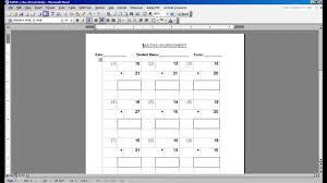 Free Math Facts Worksheets Math Worksheet Generator Youtube