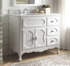 Bathroom Beadboard Ideas Colors 42 Inch Bathroom Vanity Cottage Beadboard Style White Color 42