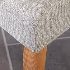 Esszimmerstuhl Textil Polsterstuhl Tom Grau Dänisches Bettenlager