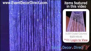 event direct decor event decor direct tv dramatic iridescent column for