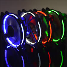 led 120mm computer pc cooling fan with led light of blue