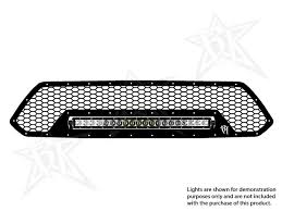 Led Grill Light Bar by 2012 2015 Toyota Tacoma Led Grille Black Rigid Industries