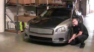 nissan altima coupe rear diffuser how to with kyle millen stillen nissan maxima front lip install