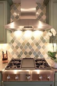 interior kitchen backsplash with arabesque tiles hand glazed