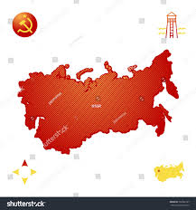 Ussr Map Simple Outline Map Ussr Stock Vector 702062107 Shutterstock