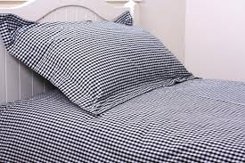 yellow gingham double duvet cover blue set light