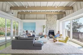 california mid century modern has 13 foot fireplace from mexico