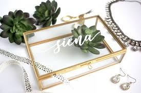 baby personalized jewelry pre order personalized glass box customized jewelry box