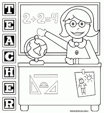 best teacher coloring page cool and best ideas teacher teaching