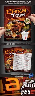 flyer menu template asian restaurant menu template
