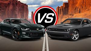 whats better a camaro or challenger 2016 chevy camaro ss vs dodge challenger r t spec comparison