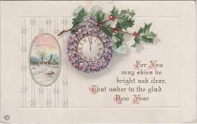 new years postcard wonderful wonderblog vintage new year postcards