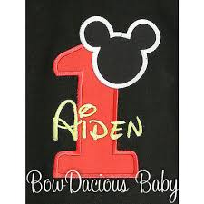 mickey mouse 1st birthday mickey mouse birthday shirts and onesies