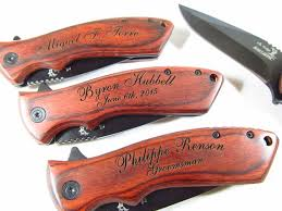 wedding gift knives 7 engraved assist open pocket knife personalized groomsman