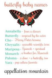 butterfly baby names monarch mariposa yara appellation mountain