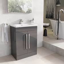 newton floor standing bathroom vanity unit anthracite grey ceramic