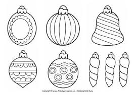 brilliant christmas ornaments coloring pages printable