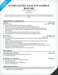 brilliant ideas of entry level financial analyst resume sle