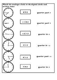 half past o u0027clock quarter to and quarter past time assessment by
